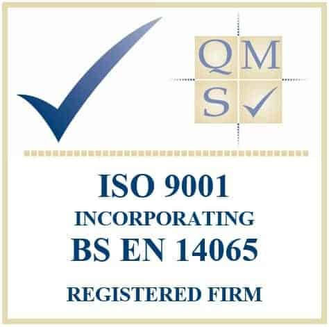 Accredited with BS EN 14065